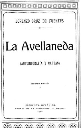 Обложка книги Гертрудис Гомес де Авельянеда «Автобиография  и милосердие», 1914 год